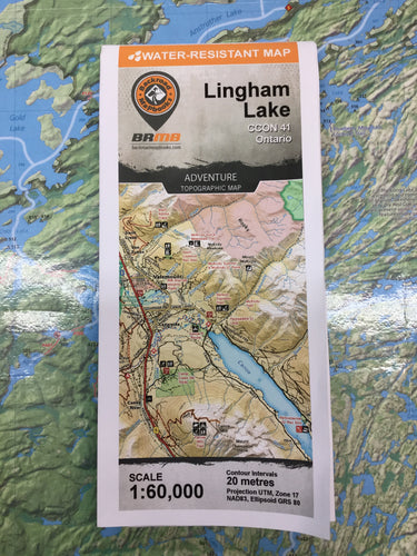 Lingham Lake topographic map by Backroad Mapbooks