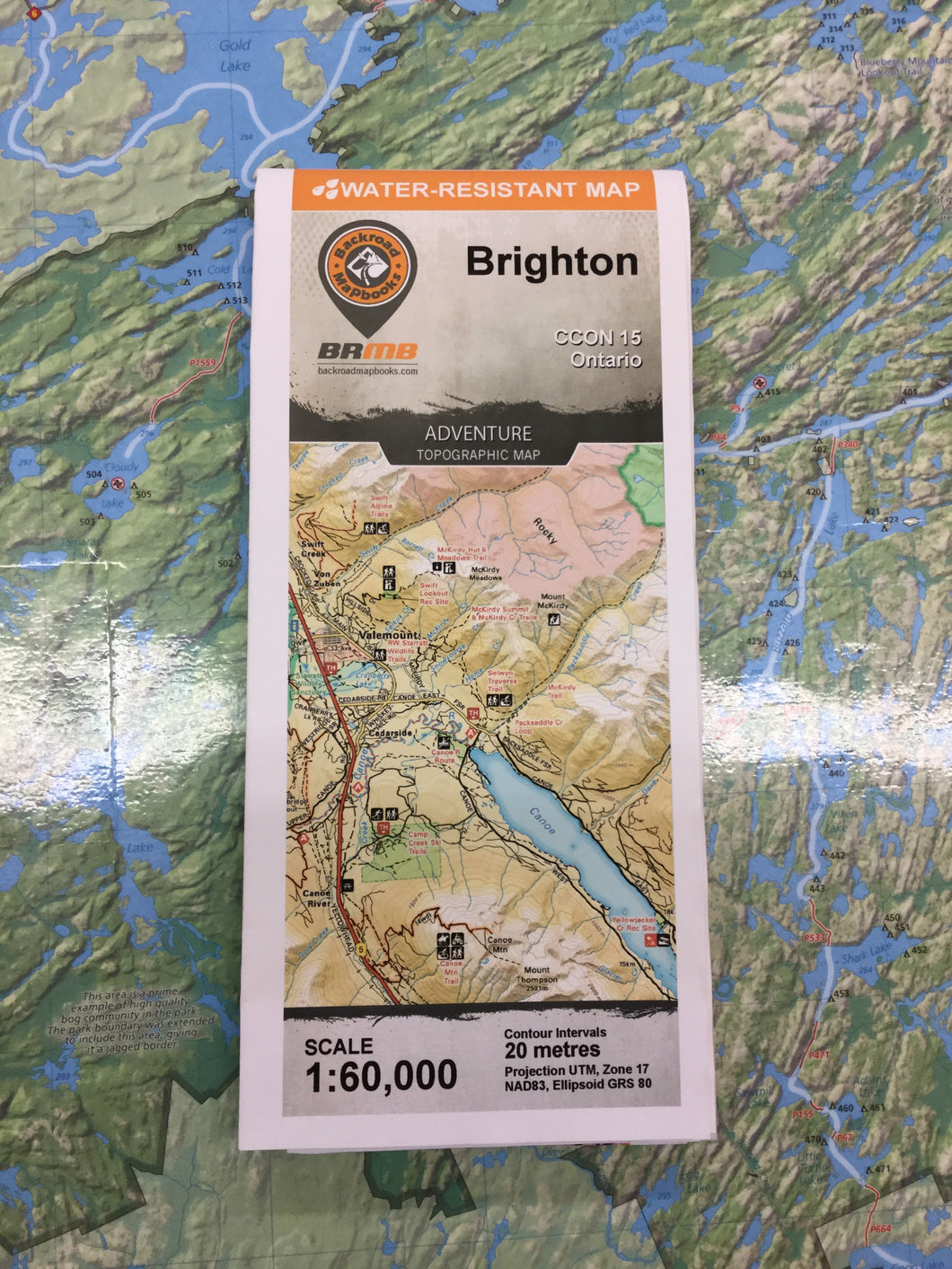 Brighton topographic map by Backroad Mapbooks