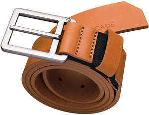 Leather Belt with Hidden Stretch Webbing by Arcade