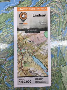 Lindsay topographic map by Backroad Mapbooks
