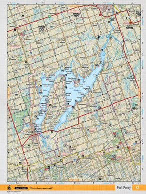 Port Perry CCON 12 Topographic Map by Backroad Mapbooks