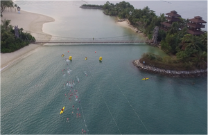 Metasport Aquathlon 2018 - a view from the top!