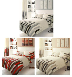 NEW CONTEMPORARY BLOCKS BUMPER BED PACKS - MATCHING CURTAINS & DUVET COVER SETS