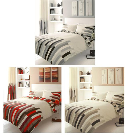 New duvet cover sets block stripe contemporary quilt cover bed sets