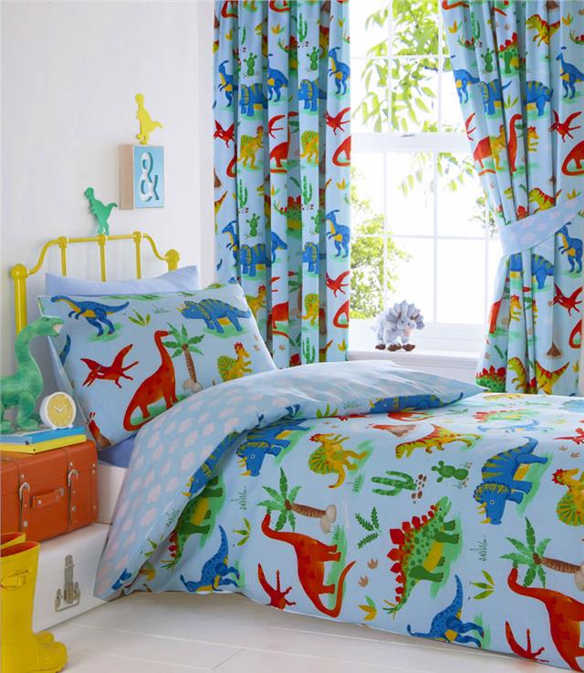 Single size dinosaur bedding set boys bed duvet set quilt cover & pillow case