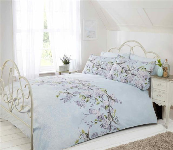 New bedding sets with pink blossom trees & birds duvet sets quilt covers