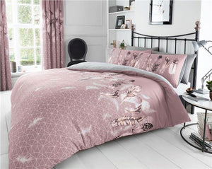 Duvet sets pink dream catcher feathers design new quilt cover bedding