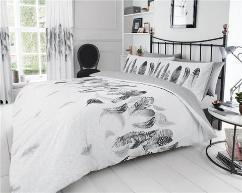 Duvet sets white & grey dream catcher feathers new quilt cover bedding