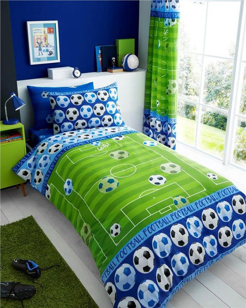 Blue football team duvet set quilt cover / sheet set / curtains *buy separately