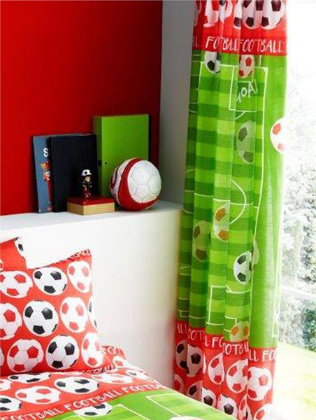 Red football team duvet set quilt cover / sheet set / curtains *buy separately
