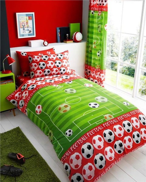 Football bedding single duvet quilt cover / sheet set / curtains *buy separately