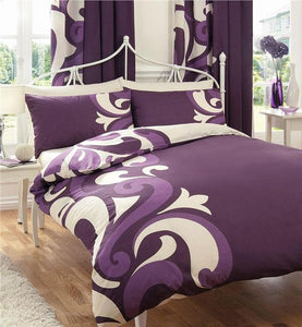 SUPER KINGSIZE duvet cover bed set berry & cream print quilt cover bedding set