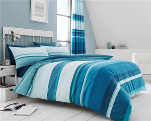 New duvet sets contemporary stripe bed cover & pillow cases quilt sets