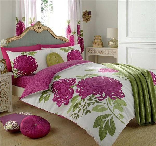 New duvet cover bed sets elegant chrysanthemum flower print bedding quilt covers