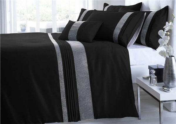Duvet cover bed sets silver sparkle band quilt cover luxury bedding
