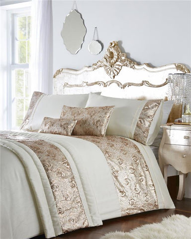 Luxury bed sets with rose gold or silver sequins duvet covers & optional extras