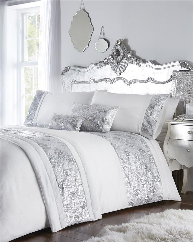 Luxury bed sets with rose gold or silver sequins duvet covers   optional  extras cad9e70ab