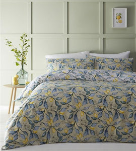 Duvet cover Mediterranean style lemon tree bedding quilt cover bed set