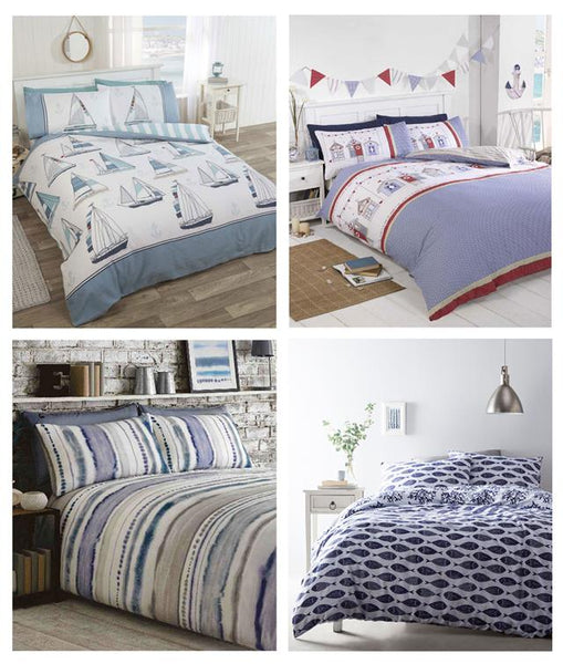Duvet sets geometric fish blue sea marine ocean bedding quilt cover pillow cases