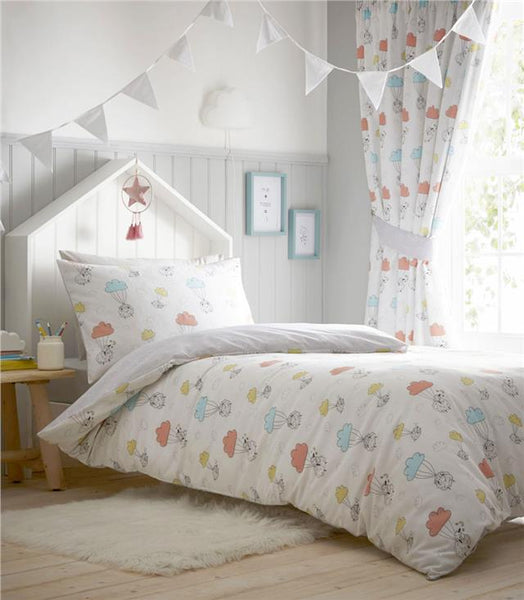 Baby nursery duvet set little sheep quilt cover bedding & curtains available