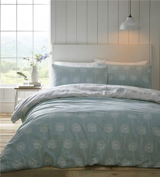 Aqua duvet set quilt cover & pillow cases reversible contemporary print bedding