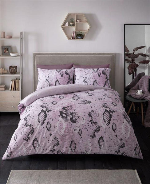 Pink snake skin duvet sets quilt cover animal print bed set