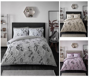 Snake print bedding duvet sets quilt cover & pillow cases animal reptile skin