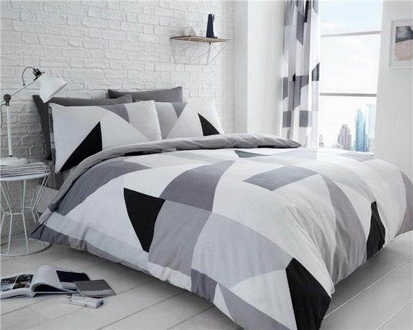 New duvet sets abstract block shapes contemporary bedding quilt cover bed linen