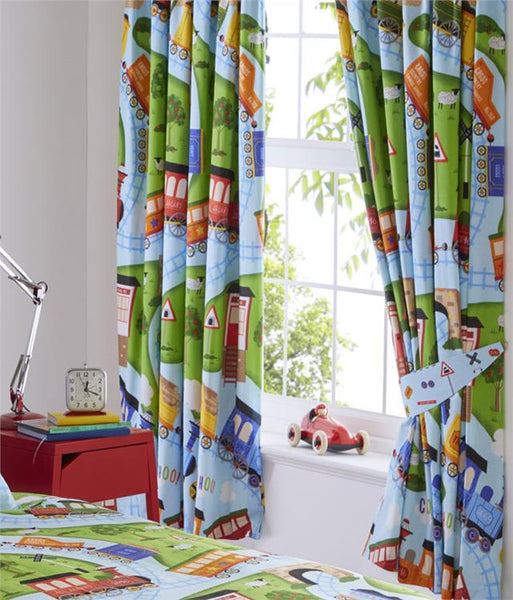 Toy train bedroom range duvet cover sets and/or curtains