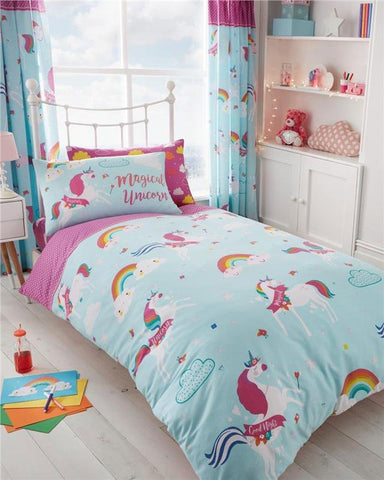 Unicorn bedding girls single duvet quilt cover / pink sheet set *buy separately