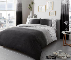 Duvet sets grey ombre quilt cover & pillow cases contemporary bedding