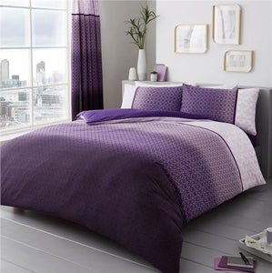 Duvet sets purple ombre quilt cover & pillow cases contemporary bedding