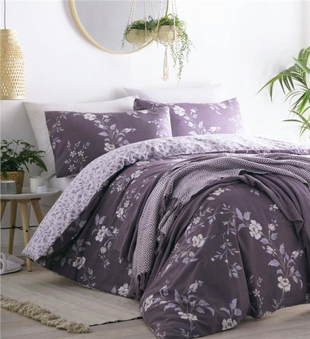 Duvet sets country cottage meadow flowers quilt cover & pillow cases bedding