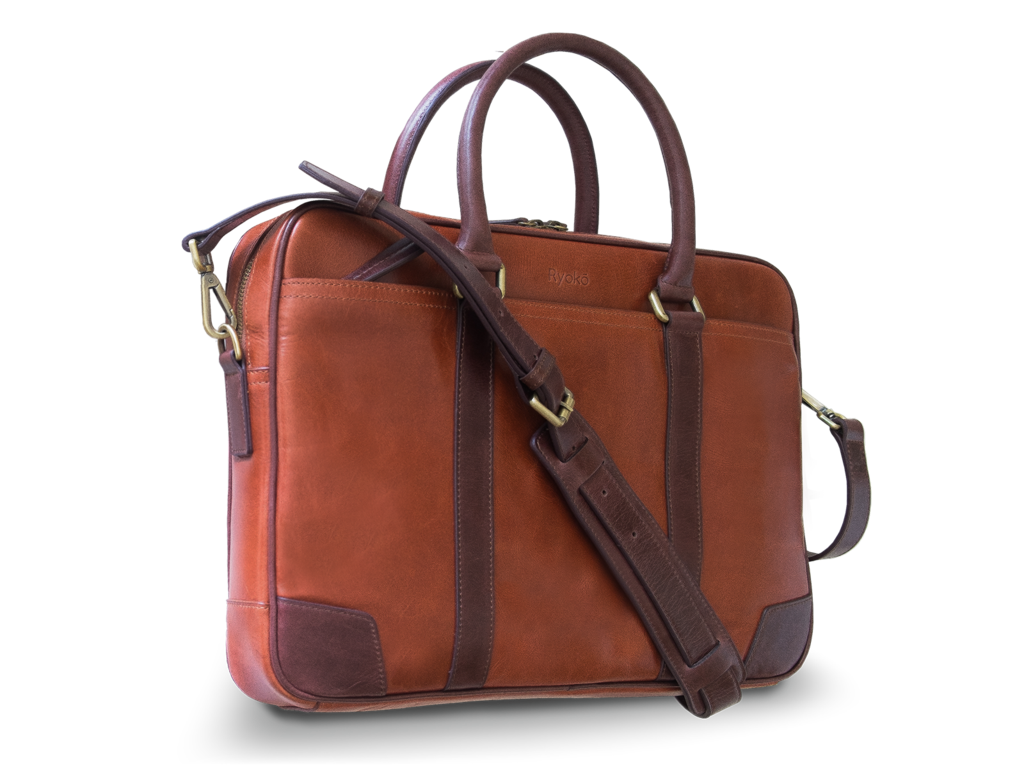 wellington luxury japanese leather briefcase