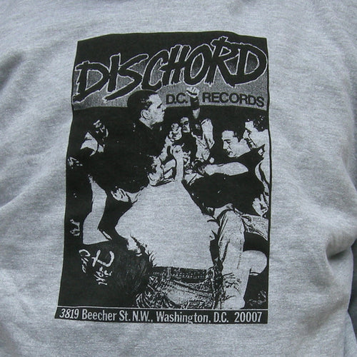 1st Dischord Shirt Hooded Sweatshirt SPORT GREY / BLACK