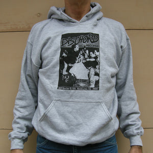 1st Dischord Shirt - Hooded Sweatshirt SPORT GREY / BLACK - ONLY SIZE SMALL !!