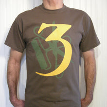 3 (Three) - T-shirt OLIVE / YELLOW & GREEN