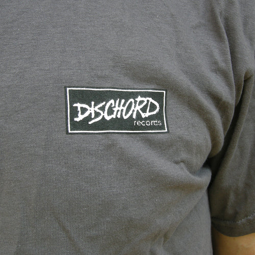 Dischord Box Logo T-shirt CHARCOAL