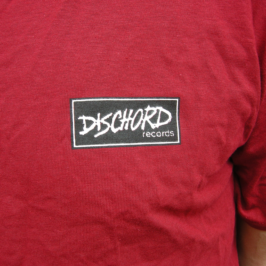 Dischord Box Logo - T-shirt CARDINAL RED