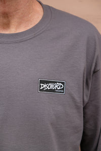 Dischord Box Logo - Long-Sleeve T-shirt CHARCOAL