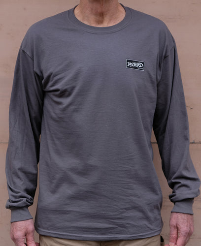 Dischord Box Logo Long-Sleeve T-shirt CHARCOAL