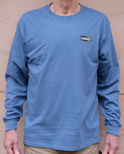 Dischord Box Logo - Long-Sleeve T-shirt INDIGO BLUE
