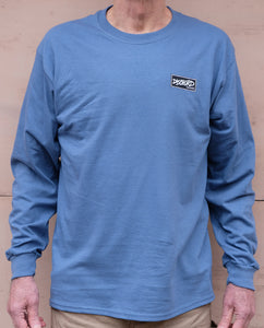 Dischord Box Logo Long-Sleeve T-shirt INDIGO BLUE