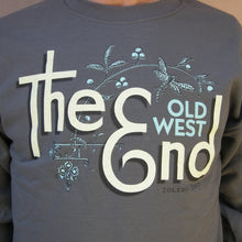 The (Old West) End - Dragonfly Brooch Crewneck Charcoal