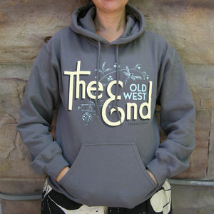 The (Old West) End - Dragonfly Brooch - Hoodie CHARCOAL/CREAM