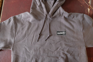 Dischord Box Logo - Hooded Sweatshirt CHARCOAL