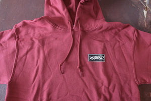Dischord Box Logo - Hooded Sweatshirt GARNET