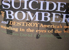 DRONE STRIKES CREATE SUICIDE BOMBERS - T-shirt