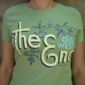 The (Old West) End Dragonfly - Ladies' T - Moss Green