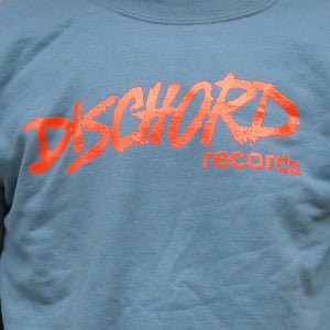 Old Dischord Logo Crewneck Sweatshirt INDIGO BLUE / RED